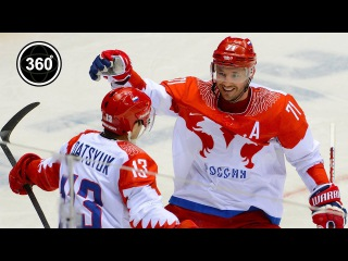Kovalchuk, Datsyuk, Voinov and other hockey legends just days before the Olympics(360 video/)