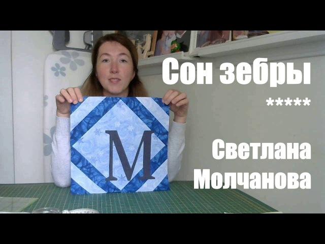 Лоскутный блок Сон зебры. Одеяло-2017. Выпуск 29