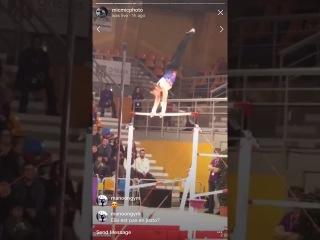 FEB-2018 - Le Palais des Gym - Aliya Mustafina UB W Dismount