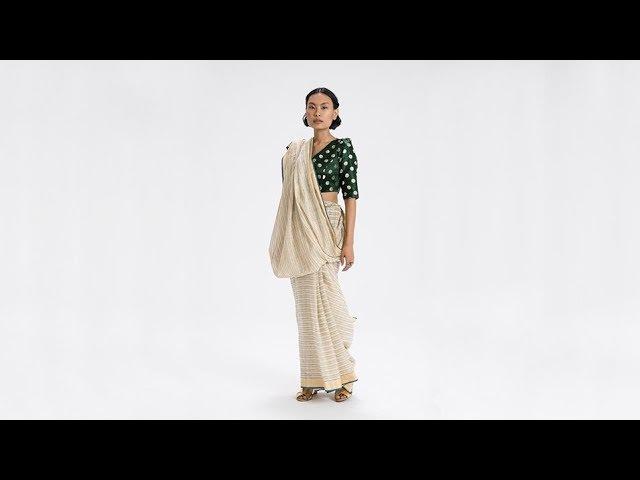 How To Drape a Sari No. 33 Santhal Pargana Drape - Jharkhand, India