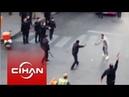İstanbul da polise satırlı saldırı Dehşet anları cep telefonu kamerasında