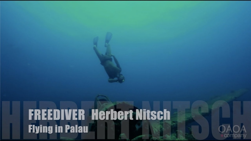 Freediver Herbert Nitsch Flying in Palau