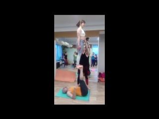 Тренировка в Новосибирске. Подбросы. Даша Калиникина, Аркаша Тепер, Ильмира Левчук.