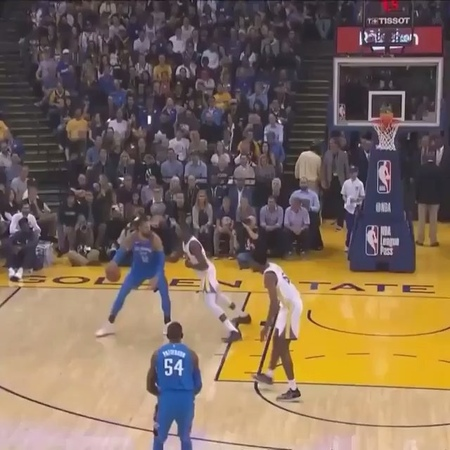 """Ximo Pierto on Instagram: """"Kevin Durant stares down OKC bench after stripping ball from Adams."""""""