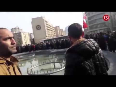 20 yanvar Şəhidlər Xiyabanına gedən yolun üzərində baş verənlər - Canlı yayımın təkrarı