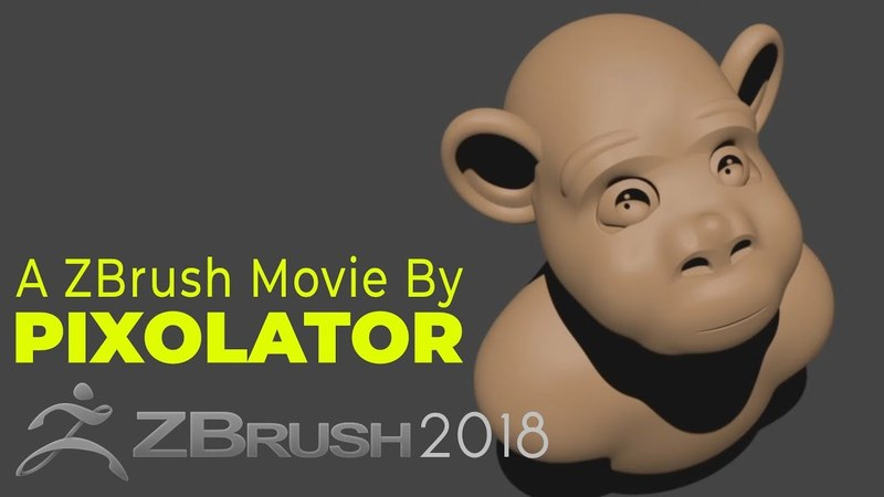 Project Primitive Toy Monkey Time Lapse by Pixolator ZBrushCentral
