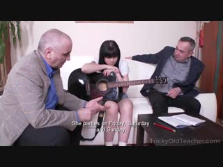 [TrickyOldTeacher] Tetti Dew Korti - Two old music teachers punish their lazy student with two dicks inside her