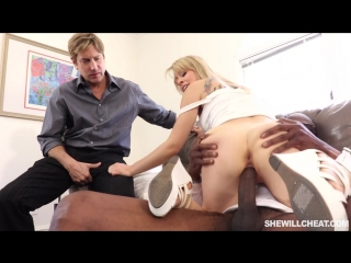 Blonde wife fucks to sell the house | interracial | cuckold