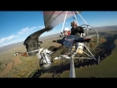 Amazing fligts with birds on board a microlight. Christian Moullec avec ses oise