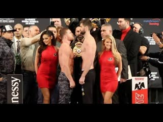 Size difference! -  saul canelo alvarez v rocky fielding - full official weigh-in (new york city) size difference! -  saul canel