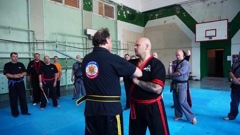 Grandmaster Juerg Ziegler Kombatan Arnis Seminar Kamenskoe Ukraine 2016