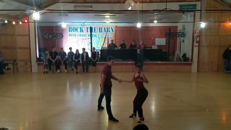 Westcoastswing Semion Ovsiannikov Maria Elizarova Rock The Barn 2019 Pro Show Demo