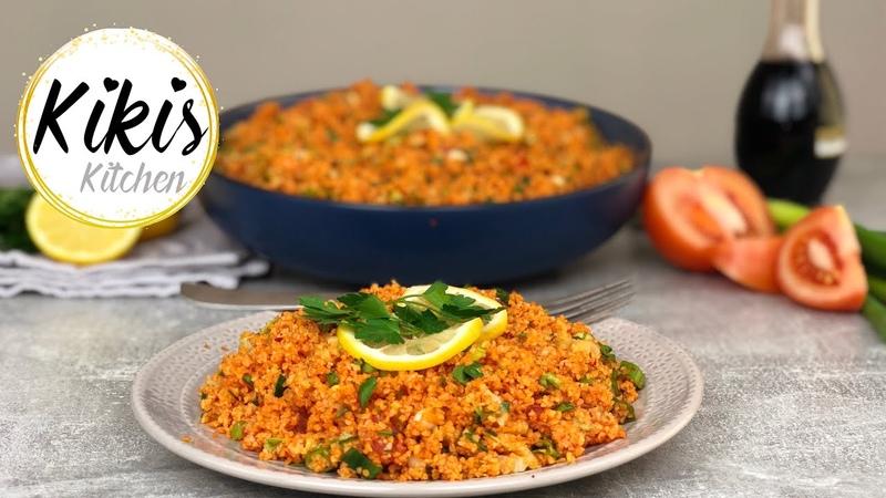 Kisir Rezept türkischer Bulgursalat gesund diättauglich und vegan Kikis Kitchen