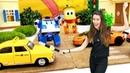Rayo McQueen Poli y Amber en la Guardería Infantil Las señales de tráfico