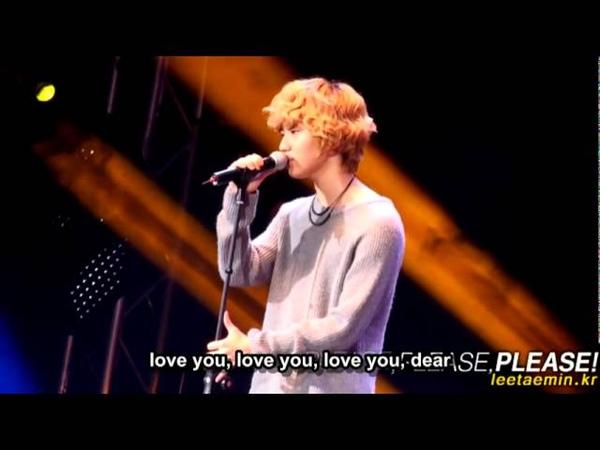 101107 SHINee TaeMin Solo 사랑해I Love you Taiwan Fanmeeting