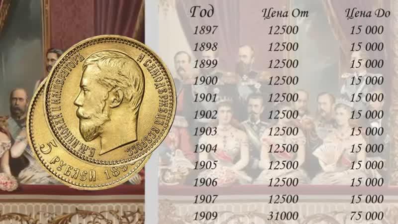 01 Золотые 10 рублевые Червонец монеты Николая 2 1897 1909 го