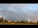 Радуга. После дождя. Закат. радуга радуга🌈 назакате закат природа поле россия красота