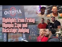 HIGHLIGHTS FROM FRIDAY OLYMPIA EXPO AND BACKSTAGE JUDGING.