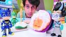 Yemek yapma oyunu Pj Maskeliler oyuncakları Romeo Baykuş Kızının pastasını bozuyor