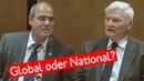 Global oder national? Prof. Dr. Eberhard Hamer mit Peter Boehringer in Berlin