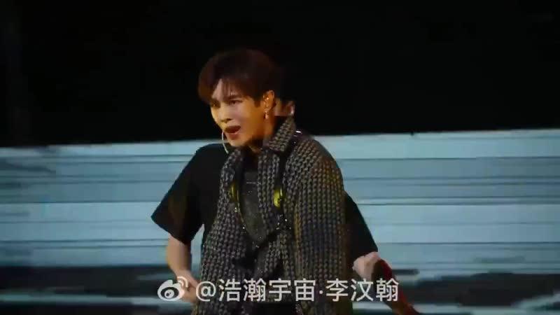 190804 Ли Вэнь Хань на iQIYI Screaming Night Concert Выступление с песней Bomba
