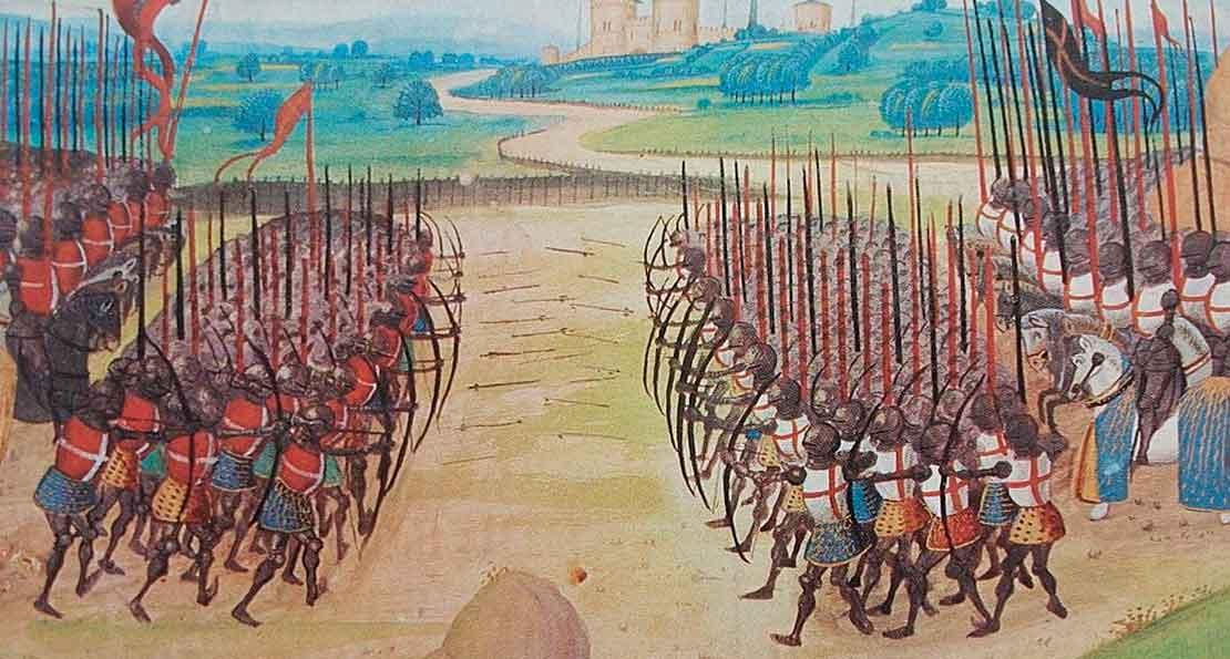 Лучники против  французов