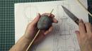 1-ый урок. Часть 1. Создание пластилиновой основы для куклы с шарниром в голове