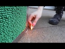 Using 20 000 matches to make a coffee table