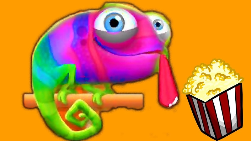 Прикольный игровой про милого Хамелеона который очень любит ПопКорн - Pull My Tongue