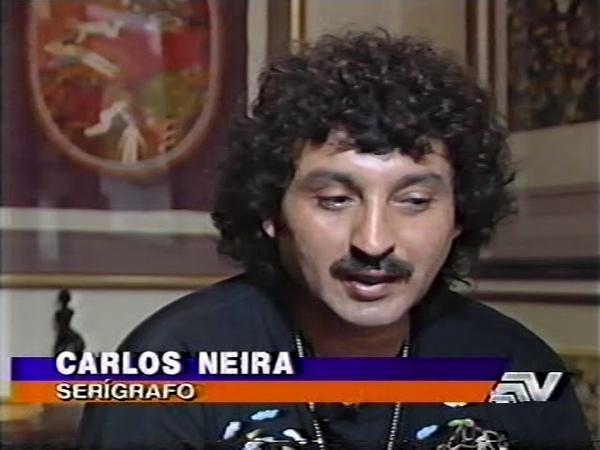 Serigrafía pictórica manual de Carlos Neyra