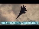 MAKS 2019 Air Show ✈️ Su-30 Incredibly Fast And Agile Aerobatics!!