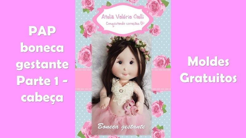 Passo a passo boneca gestante-linda boneca grávida-boneca mamãe -parte 1 Cabeça