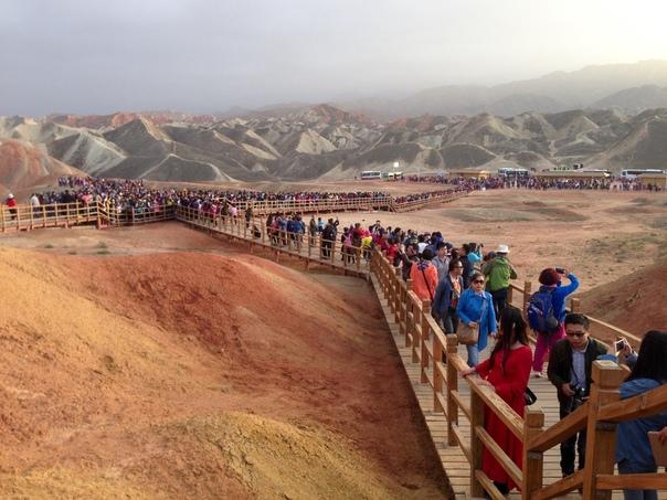 Китай: цветные горы Чжанъе-данься, изображение №4