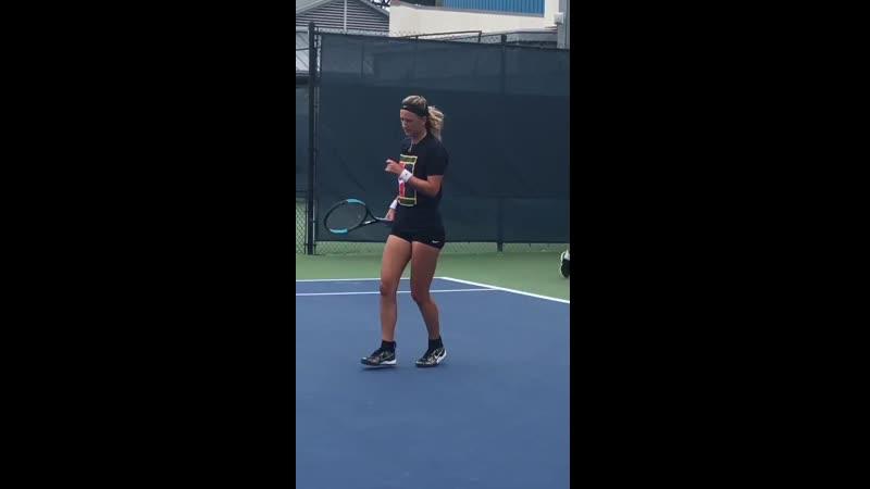 Vika Azarenka practice Day 3 CincyTennis