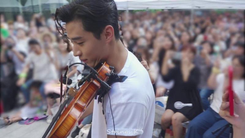 [HDFancam] 헨리 바이올린 연주 '멜로망스의 선물 _ Henry 아메리칸 이글 팬사인회 _180811