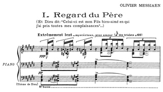 Olivier Messiaen - Vingt Regards sur l'Enfant-Jsus by Yvonne Loriod (1944)