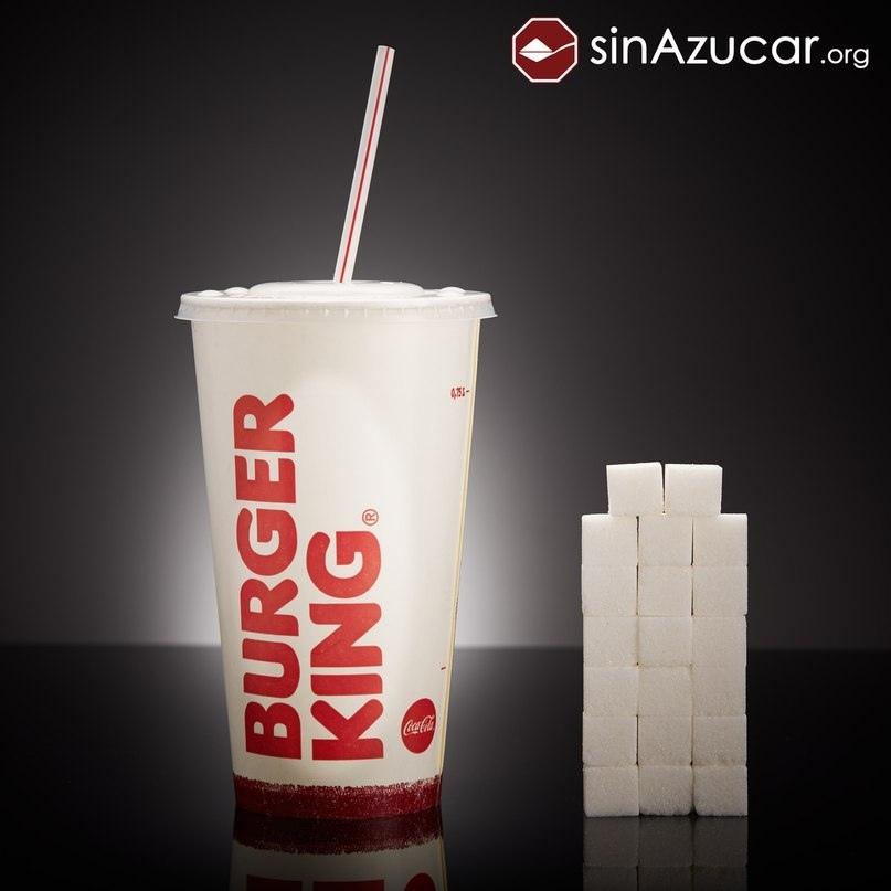 Большой стакан кока-колы в Burger King.