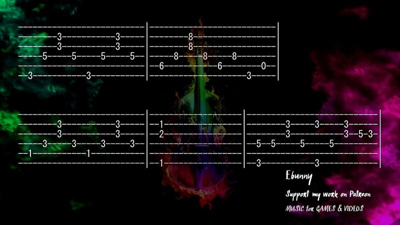 Celtic Music Enchanted Violin Full Acoustic Guitar Tab by Ebunny Fingerstyle How to Play