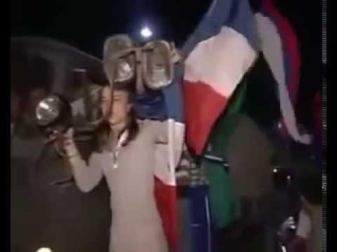 Сербы встречают русских Марш бросок на Приштину 1999