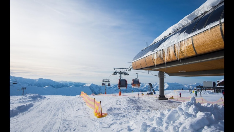 Самая длинная канатная дорога в Грузии открылась на зимнем курорте Гудаури