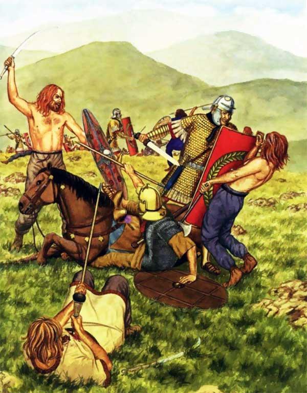 Бой с кельтами
