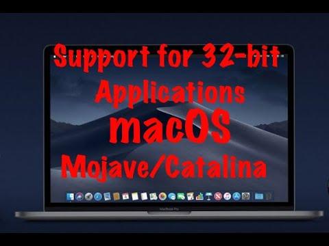 Поддержка 32 битных приложений macOS Mojave/Catalina!