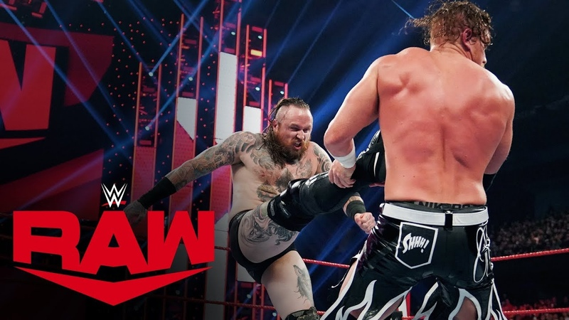 Aleister Black brawls with Buddy Murphy Raw, Nov. 25, 2019