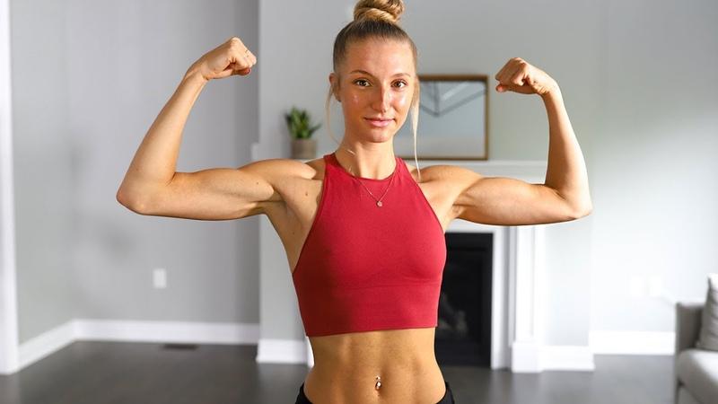 Madie Lymburner - 10 MIN Tone Your Arms Workout At Home | Тренировка без инвентаря для стройных рук