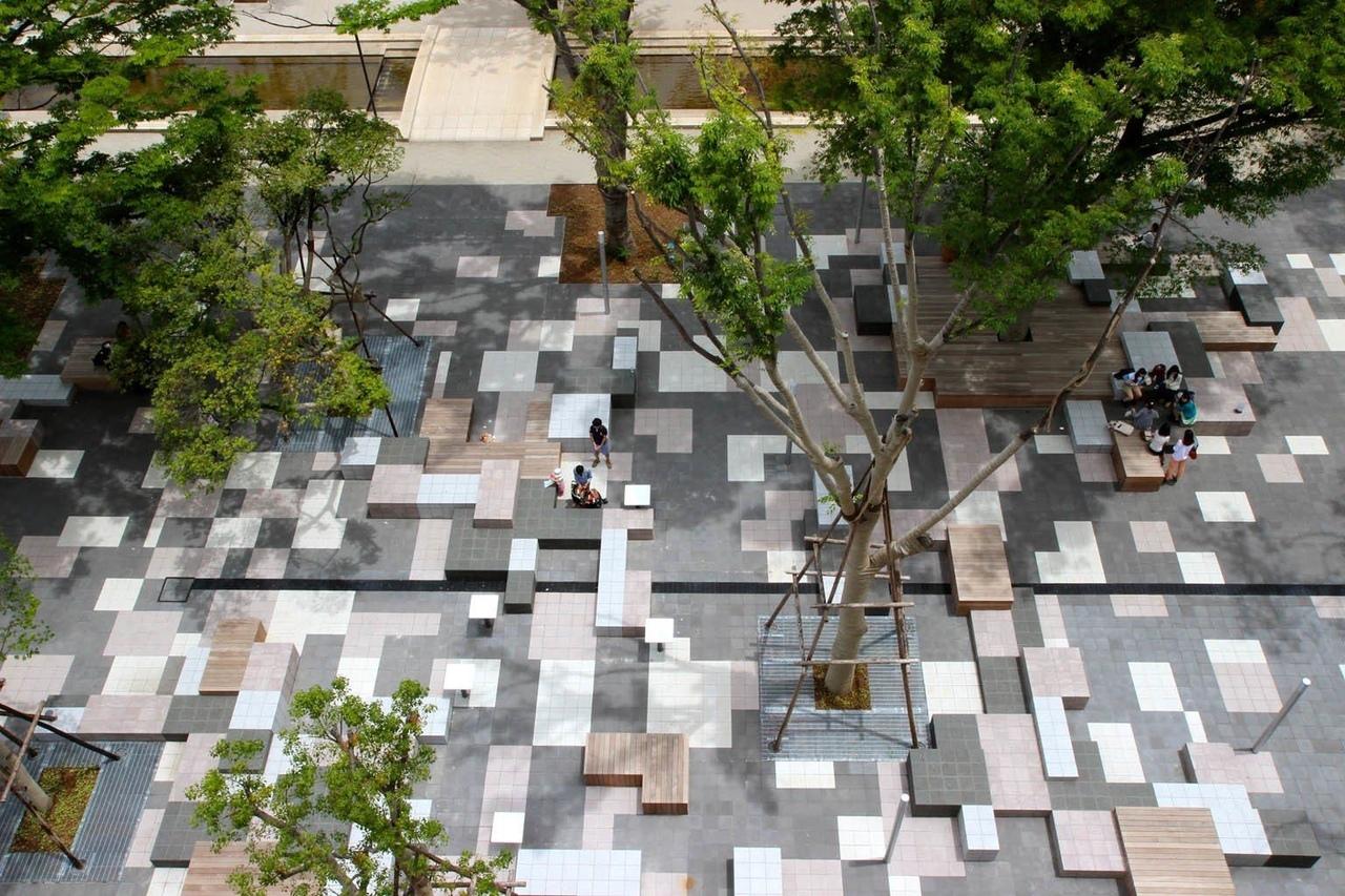 Contemporary Landscape Architecture – Teikyo Heisei University Campus Nakano