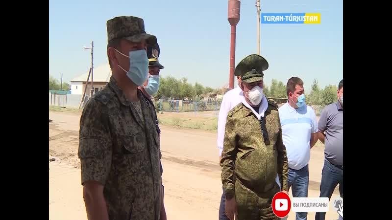 Түркістан ақпарат Облыс әкімі Мақтаралда су шайған үйлердің құрылысын бақылады 02 07 2020 жыл