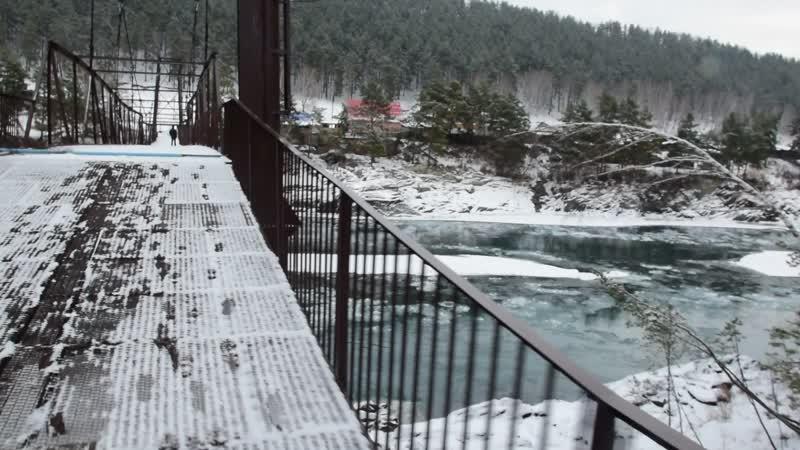 Прогулка по мосту через Катунь у Элекманара