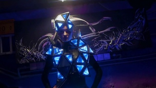 Trinity Mirror LED Pixel Dress | Infinity with no limits