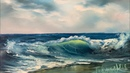 How To Paint A Seascape And Wave For Beginners Full Tutorial Paintings By Justin