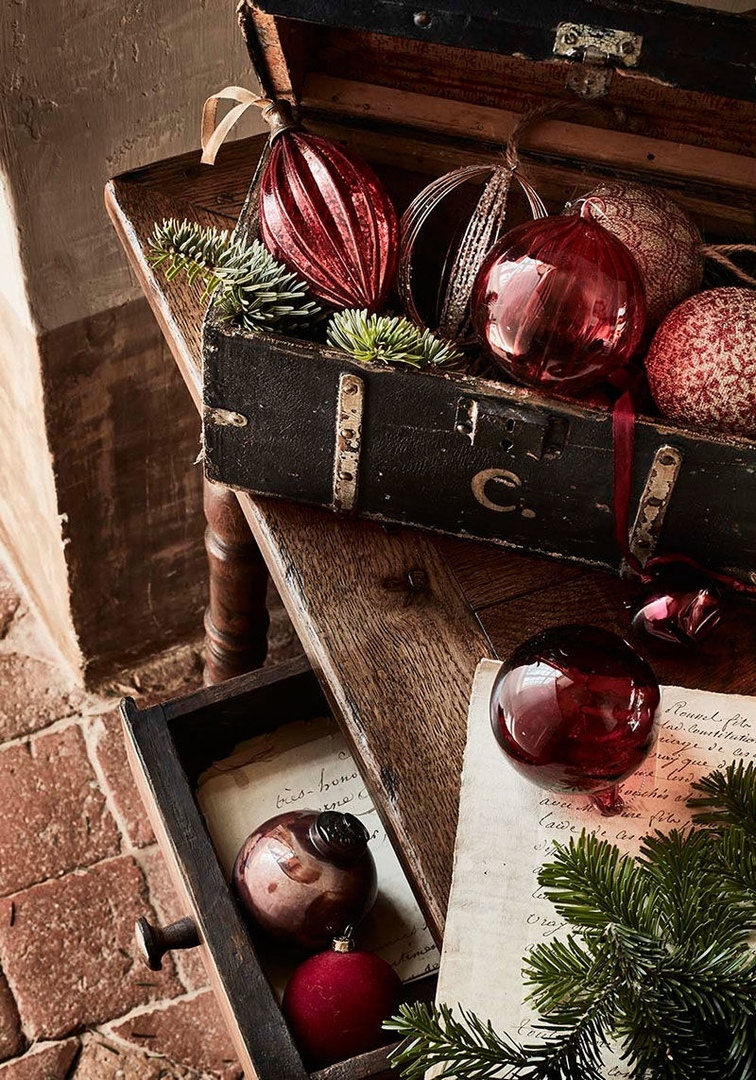 Восхитительный традиционный французский особняк в новогоднем убранстве от Alinea || 02